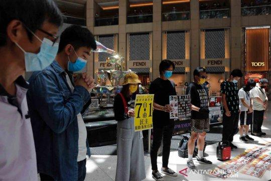 Kepolisian Hong Kong tangkap demonstran,pertama di bawah regulasi baru