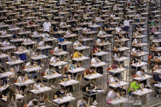 Suasana tes masuk universitas di tengah pandemi