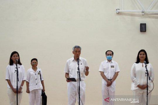 Gunakan masker, warga Singapura jalani Pemilu di tengah wabah COVID-19