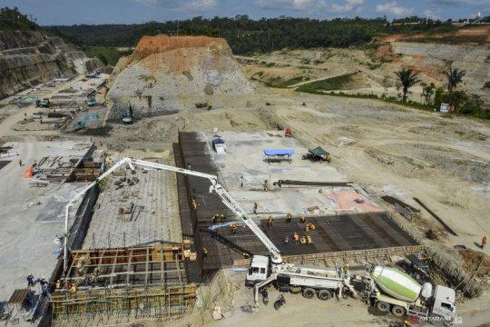 Progres pembangunan Bendungan Leuwikeris