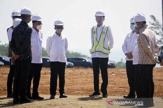 Presiden Jokowi tinjau Kawasan Industri Terpadu Batang