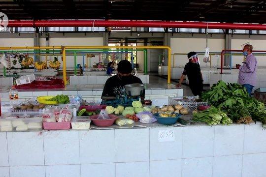 Pasar tangguh Gunung Anyar Surabaya menapak era normal baru