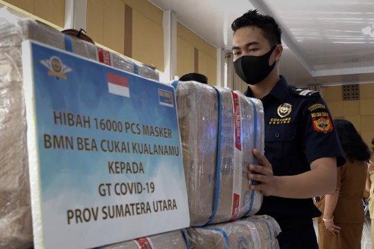 Hibahkan masker sitaan, Bea Cukai Kualanamu fokus edukasi di bandara