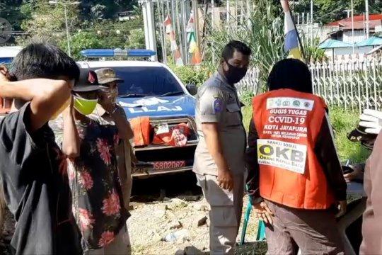 Ratusan warga Jayapura terjaring razia penggunaan masker