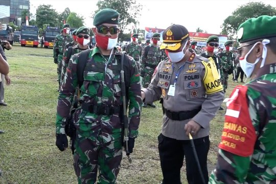 TNI Polri gelar apel dan simulasi tanggulangi karhutla Kalteng