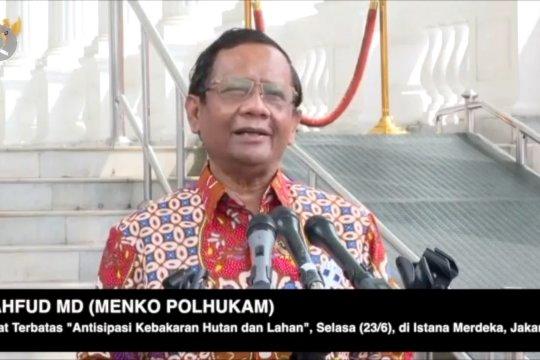 Mahfud MD: Indonesia berhasil meminimalisasi kebakaran hutan