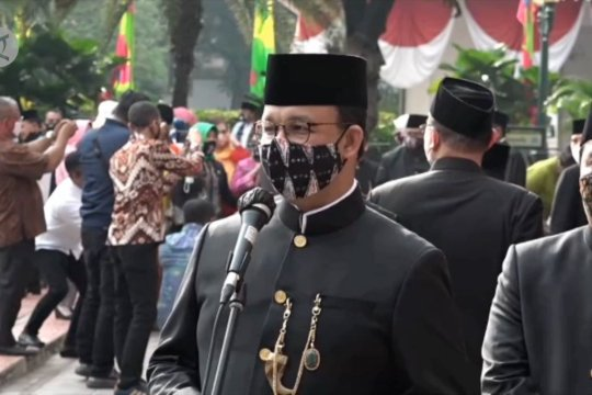 Anies: reproduksi COVID-19 terkendali, kado HUT Jakarta