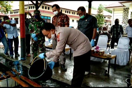 Polres Halmahera Tengah dukung ketahanan pangan