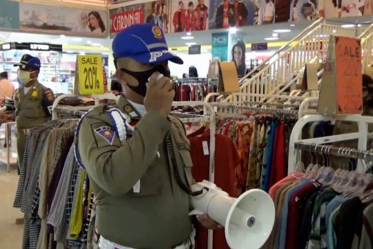 Pemkab Ngawi pantau pelaksanaan protokol kesehatan di pusat perbelanjaan