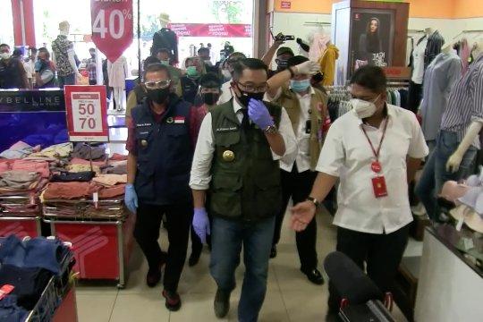 Gubernur Jabar tinjau skema AKB di Pasar Modern Cimahi