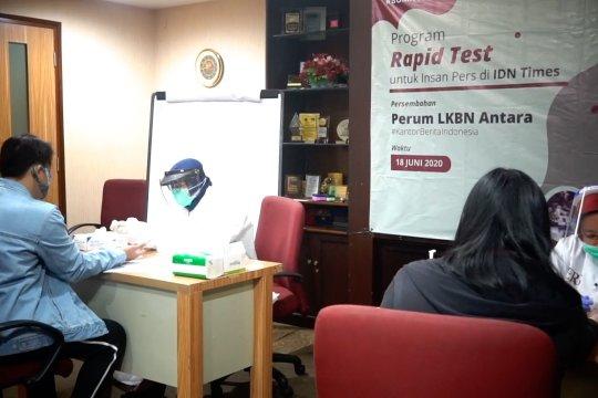 "LKBN Antara gelar ""rapid test"" terhadap 41 insan media IDN Times"