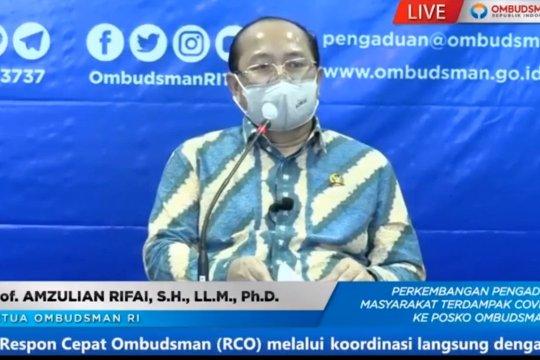 Pengaduan kepada Ombudsman RI didominasi masalah Bansos
