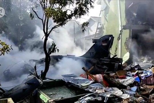 Pesawat tempur TNI AU jatuh di Riau
