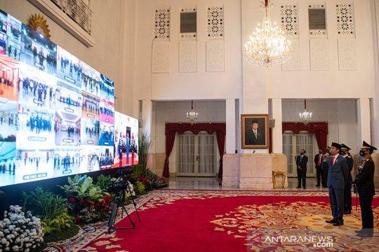 Presiden Jokowi cek keamanan enam kabupaten pada Hari Bhayangkara