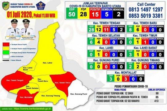 Pasien positif di Barito Utara bertambah dari transmisi lokal