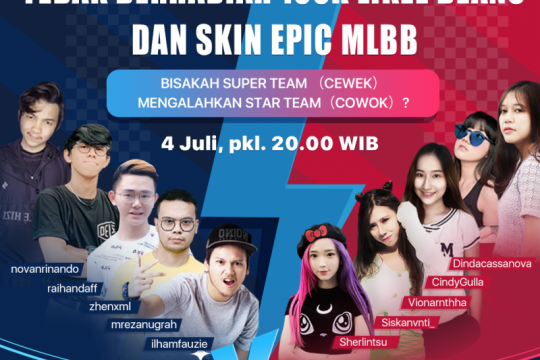 Likee-Moonton gelar kompetisi Mobile Legends antar influencer