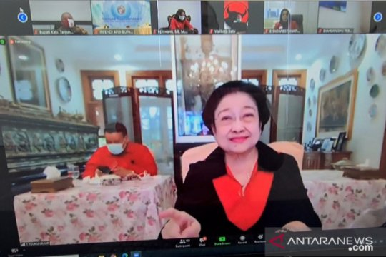 Megawati akan resmikan 20 kantor partai secara virtual