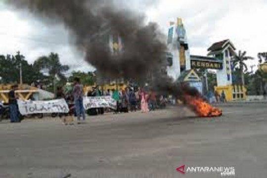 Hoaks, video pembakaran kantor polisi di Kendari karena warga tolak TKA China
