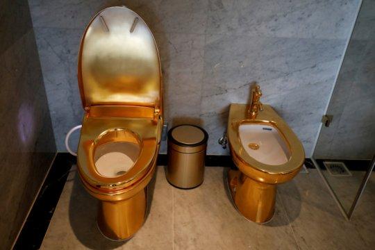 Mewahnya hotel berlapis emas di Hanoi