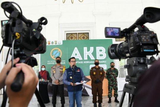 Gubernur: Level kewaspadaan delapan daerah Jabar turun ke zona kuning