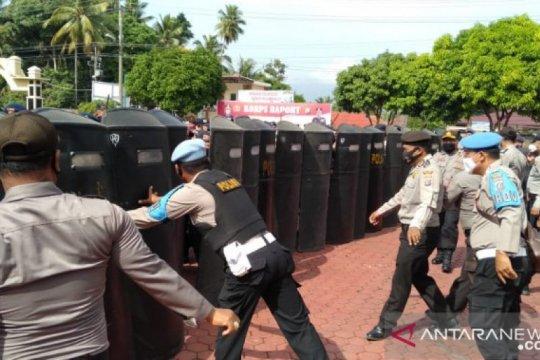 Kondisi di Madina aman, personel Brimob Sumut tetap disiagakan