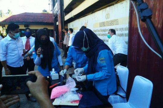 Polda Kalbar musnahkan barang bukti ribuan butir ekstasi