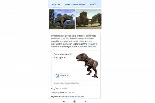 "Lihat dinosaurus ""hidup"" di Google Search"