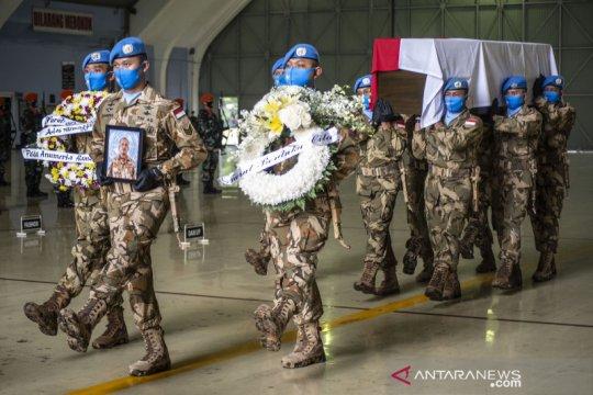 Pelepasan jenazah prajurit TNI yang gugur saat bertugas di Kongo