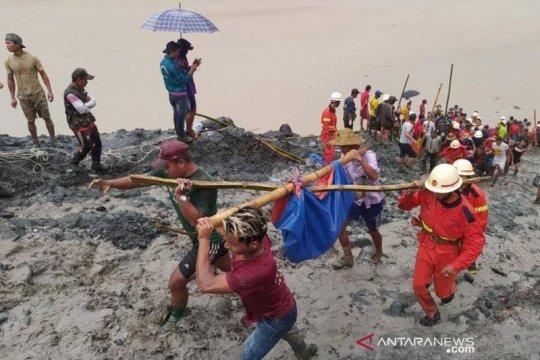 Korban longsoran tambang giok Myanmar dikubur secara massal
