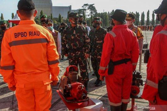 Apel Kesiapsiagaan Penanggulangan Bencana Karhutla Riau