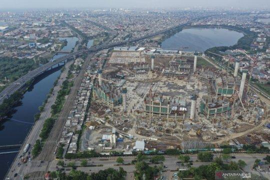 Progres proyek pembangunan Stadion BMW