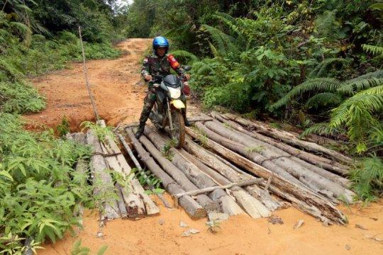 TNI bangun infrastruktur daerah perbatasan melalui TMMD
