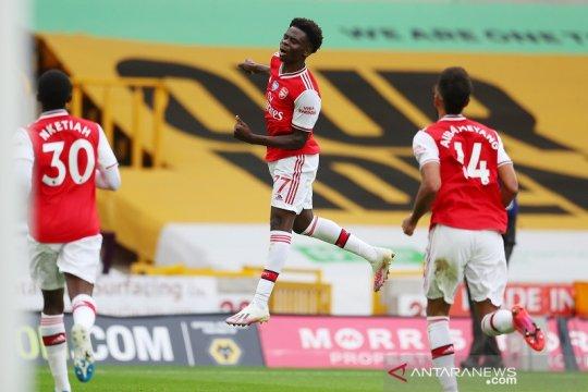 Arsenal lanjutkan tren positif dengan tundukkan Wolverhampton