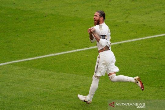 Ramos tegaskan jika Real Madrid juara bukan karena bantuan wasit