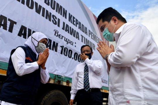 Menteri BUMN: Kondisi penyebaran COVID-19 Jatim perlu perhatian khusus