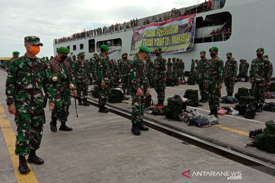 Pangdam XIV/Hasanuddin sambut Satgas Yonif 721/Mks penjaga perbatasan