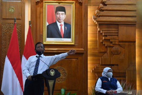 Mahfud MD tegaskan pemerintah pusat serius perhatikan Jawa Timur