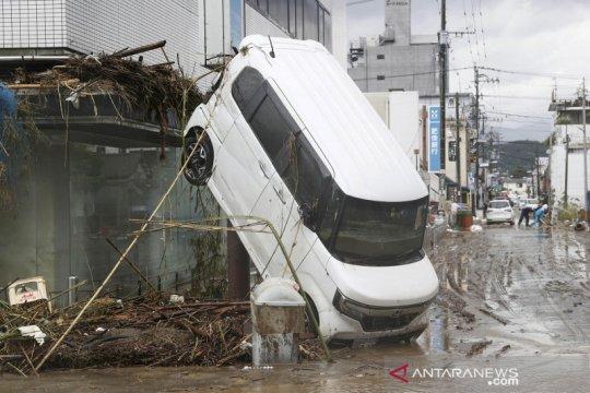 Hujan deras sebabkan banjir di beberapa kota di Jepang