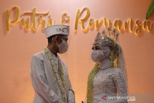 Simulasi resepsi pernikahan di era normal baru