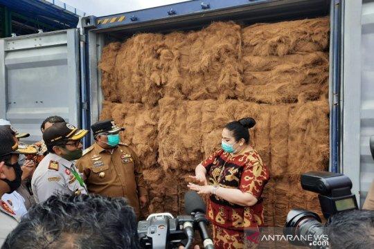 Gubernur Ali Mazi lepas ekspor perdana serabut kelapa ke China