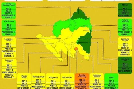 Dinkes: Enam wilayah di Lampung masuk zona hijau