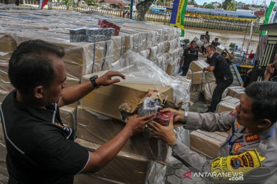 Polda Riau gagalkan penyelundupan rokok ilegal