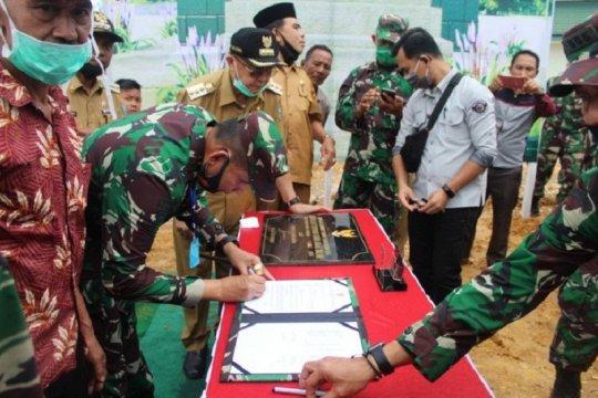 Kawasan terpadu Suku Anak Dalam diserahkan TNI ke Pemkab Sarolangun