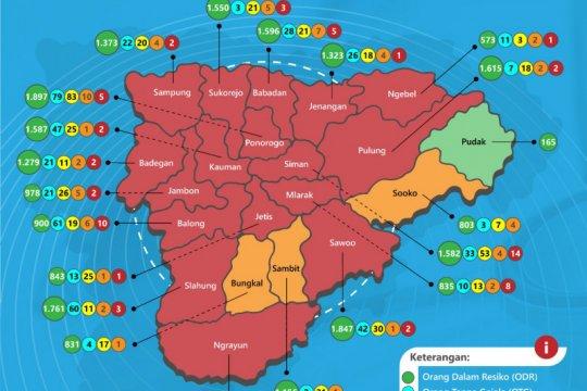 Status Kabupaten Ponorogo naik dari zona kuning ke zona oranye