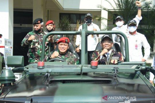 Mahfud: Pemerintah bahas draf Perpres pelibatan TNI tangani terorisme