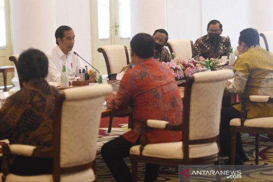 Presiden Jokowi jelaskan penggunaan anggaran kepada pimpinan MPR