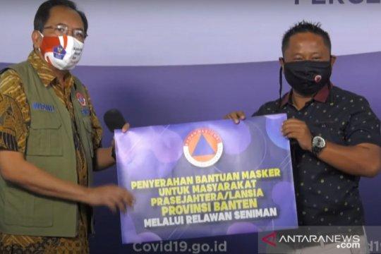 BNPB serahkan bantuan masker ke Persatuan Seniman Komedi Indonesia