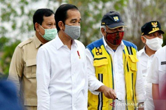 Presiden tinjau lahan di Kapuas bersama gubernur dan sejumlah menteri