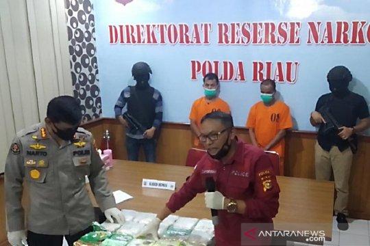 Polda Riau sita 15,8 kilogram sabu asal Malaysia