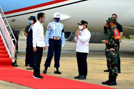 Presiden Jokowi tiba di Kalimantan Tengah, tinjau food estate